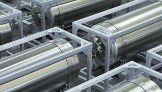 Криоцилиндр для азота и кислорода горизонтального типа DPW-495/1,6-90