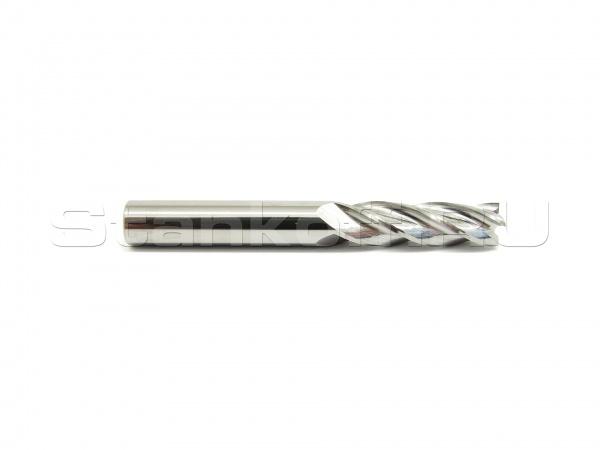 Фреза концевая спиральная четырехзаходная стружка вверх N4LX6.42