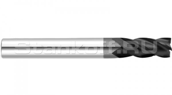 Фреза спиральная четырехзаходная по металлу с покрытием AlTiN AS4LX01