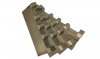 Бланкета твердосплавная напайка HW TIGRA 260*60*10 высота профиля до 25 мм