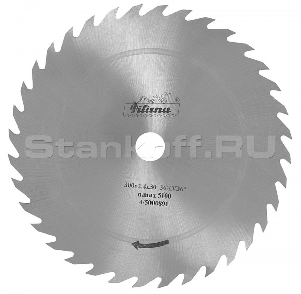 Цельные дисковые пилы без напайки для многопильных станков B-50035