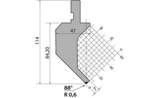 Пуансон гусевидного типа P.114.88.R06.805s