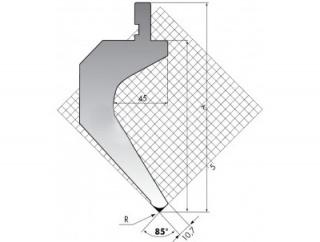 Пуансон для листогиба TOP.175-85-R08/FB/R