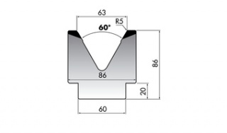 Матрица для гибки M86-60-63/F