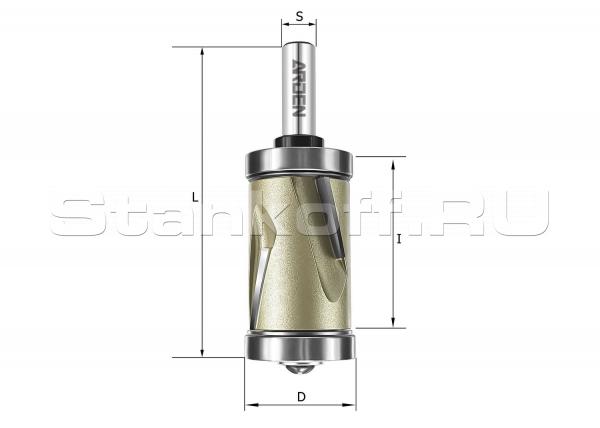 Фреза обгонная двунаправленного реза (верхний + нижний подшипник) 151204С