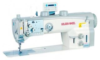 Двухигольная машина с тройным продвижением и электронными функциями GOLDEN WHEEL CSU-8672-ABFT/LL