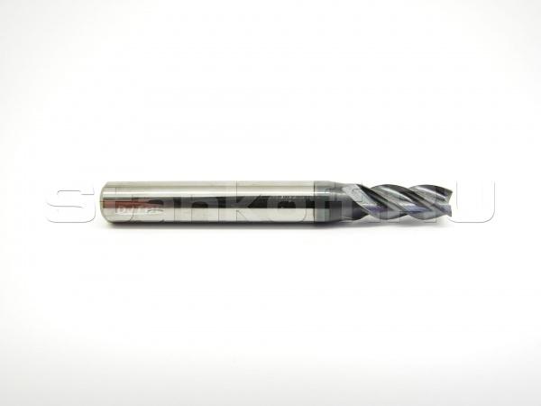Фреза концевая спиральная четырехзаходная по металлу с покрытием AlTiN AS4LX04