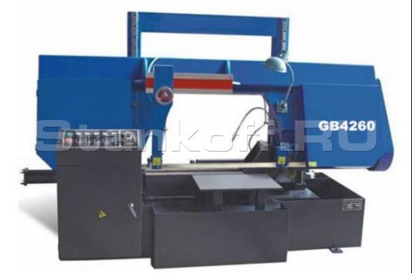 Гидравлический ленточнопильный колонный станок GB 4260