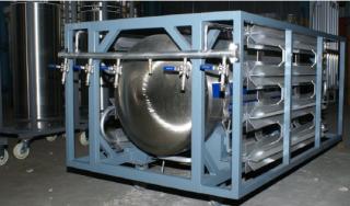 Горизонтальный криогенный газификатор ГХК-Г-0,5/2,5-50