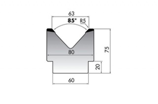 Матрица для гибки листового металла M75-85-63/C