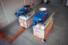 Кромкооблицовочный станок DM-110 (узел снятия свесов, чистовая торцовка и полировка)