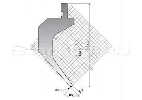 Пуансон для листогиба TOP.175-85-R08-S/FA