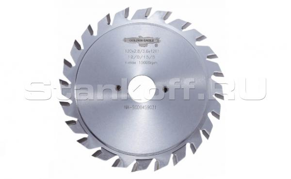 Пила дисковая твердосплавная подрезная GE 80*20*2,8-3,6/2,2 z10+10 F