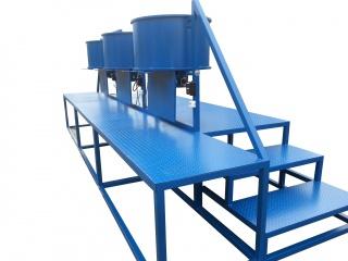 Трехпостовая смесительная станция для резиновой крошки ТСС