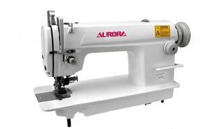 Прямострочная машина челночного стежка с боковым ножом обрезки края материала Aurora A-5200