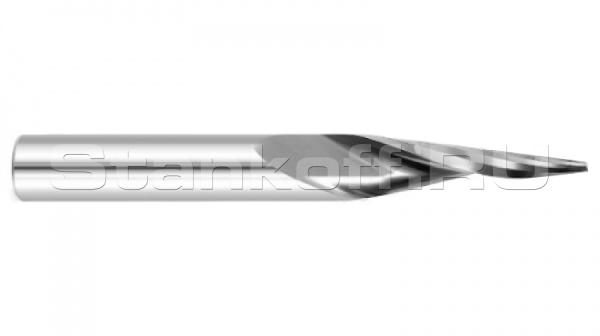 Фреза спиральная однозаходная конусная (с плоской площадкой) DJTOL NX1LX62010