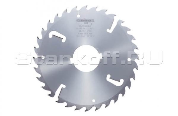 Пила дисковая твердосплавная многопильная GE 350*50*3,9/2,5 z18+4 F-S