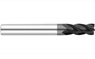 Фреза спиральная удлиненная четырехзаходная с покрытием AlTiN DJTOL AS4LX015L