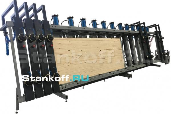 Пресс гидравлический вертикальный для оконного и строительного бруса и щита SL250-12GR (6+6)