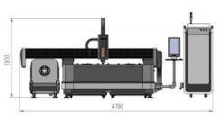 Оптоволоконный лазер с труборезным механизмом DualCut LNR3015/2200 Raycus