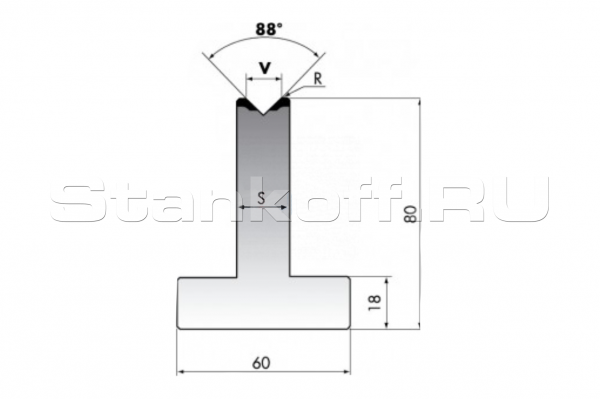 Матрица для гибки TR80-08-88