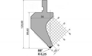 Пуансон P.120.88.R025.835
