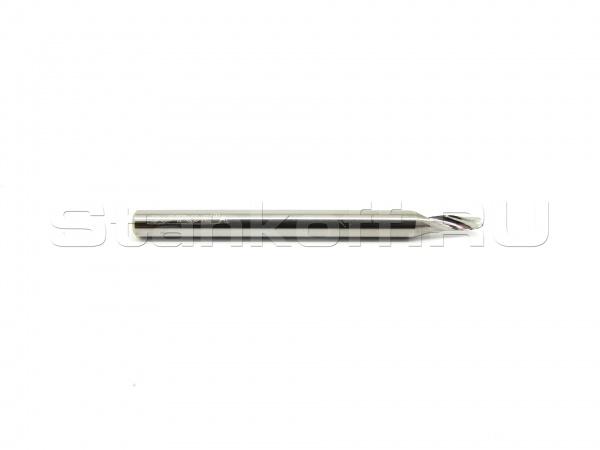 Фреза cпиральная однозаходная по алюминию, меди, латуни AL1LX3.204