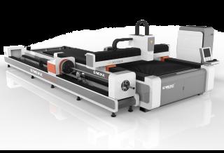 Оптоволоконный лазер для резки листов и труб со сменным столом LF3015GCR/3000 Raycus