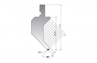 Пуансон гусевидного типа PK.114-90-R06/F/R