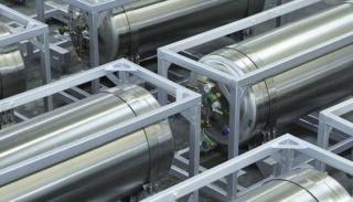 Горизонтальный криогенный газификатор азота, кислорода DPW-495/2,5-90