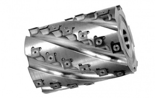 Фреза-кукуруза «механик» цилиндрическая сборная, с винтовым расположением твердосплавных ножей 090.06.90.40.158-0Z
