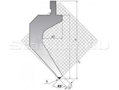 Пуансон для листогиба TOP.175-85-R08/FA/R
