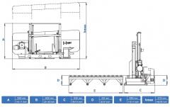 Станок ленточнопильный полуавтоматический CUTERAL CSM 1200/1300
