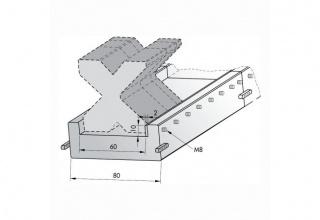 Подложка сборная с прижимной планкой C1050-RS/C