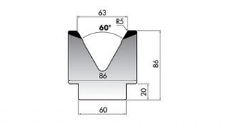 Матрица для гибки M86-60-63/C