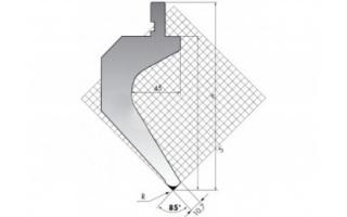 Пуансон для листогибочных прессов TOP.175-85-R2/FB