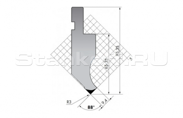 Пуансон прямого типа P.95-88-R3/C