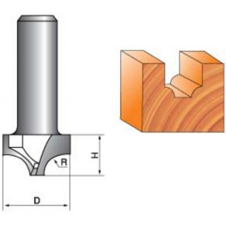 Фреза концевая фасонная кромочная для станка с ЧПУ NRD616
