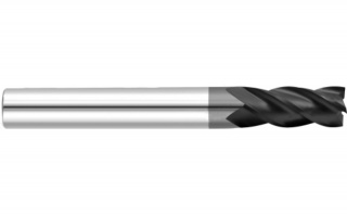 Фреза спиральная удлиненная четырехзаходная с покрытием AlTiN DJTOL AS4LX12L