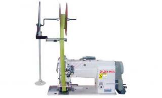 Двухигольная промышленная швейная машина с пулером GOLDEN WHEEL CS-8172-P1 для настрачивания ленты