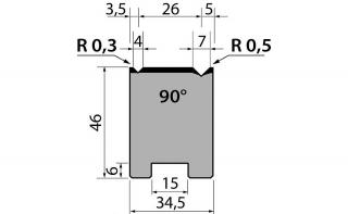 Матрица R1 двухручьевая быстросъемная классическая 46-10.415