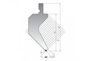 Пуансон для листогибочных прессов P.135-88-R08