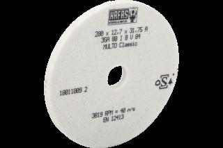 Круг шлифовальный по металлу 200x12,7x31,75A35A80I8V84 40m/s (JPSG-0618SD) белый