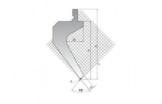 Пуансон для листогиба TOP.175-75-R2/FA/R