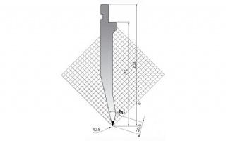 Пуансон для листогибочных прессов TOP.175-26-R08/FA/R