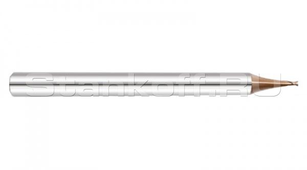 Микрофреза спиральная 35° двухзаходная с покрытием AlTiN DJTOL KS2MLX0.8