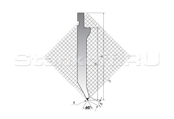 Пуансон для листогиба TOP.175-60-R08/R/T