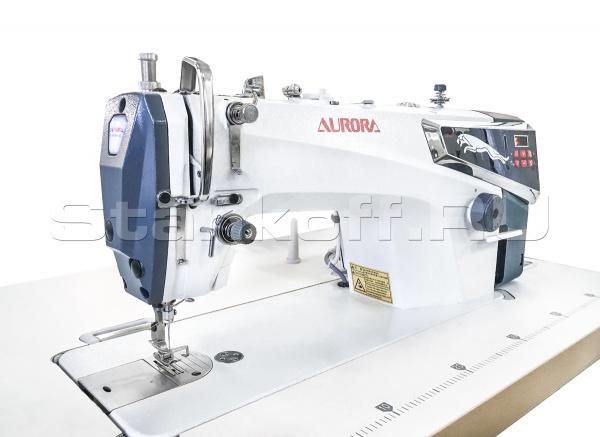 Прямострочная машина с прямым приводом и автоматической обрезкой нити Aurora S2-HL