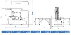 Станок ленточнопильный полуавтоматический CUTERAL CSM 550