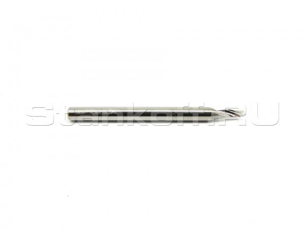 Фреза cпиральная однозаходная по алюминию, меди, латуни AL1LX3.206